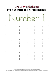 Free Printable Tracing Numbers 1 Worksheets Trace Number Chart For ...