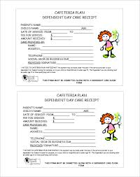 fee receipt format daycare receipt template 24 free word excel pdf format download