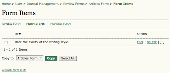Review Forms Open Journal Systems