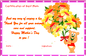 Mothersday Certificates To Print Out