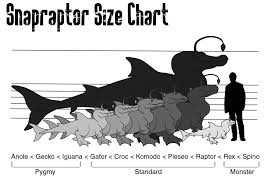 animal sizes chart snapraptor size chart by lukky on deviantart