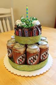 diy gift 1 beer an candy cake