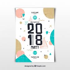 New Year Flyers Template Creative New Year Flyer Template Vector Free Download