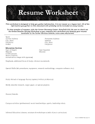 25 Images Of Resume Template Worksheet Kpopped Com