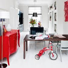White Kitchen Dresser Unit White Kitchen With Red Highlights Kitchen Design Ideal Home