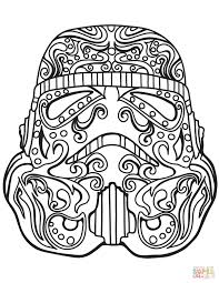 star wars stormtrooper sugar skull coloring page 15 9 storm trooper pages