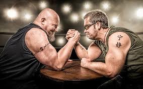 фото тату мужчины бородатые двое спортивные руки 3840x2400