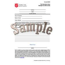 salvation army receipt forms paperwork