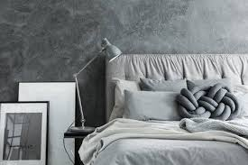 modern bed side view. Beautiful Side Closeup Side View Of Cozy Modern Bedroom With Gray Headboard Stock Photo  Throughout Modern Bed Side View D