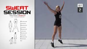 sweat session workout full high burn 14 min