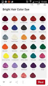 Bright Hair Color Chart Hair Color Chart In 2019 Hair Color Hair Dye Colors