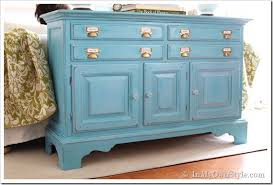 chalk paint furniture picturesBefore and After Furniture Makeover in Turquoise  In My Own Style