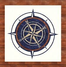 best nautical custom area rugs images on country with compass in rose rug plan 13