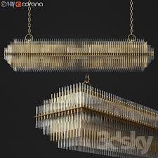 emile linear chandelier restoration hardware