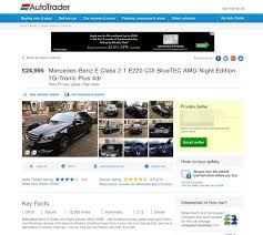he was ing his mercedes for 24 995 on auto trader image autotrader