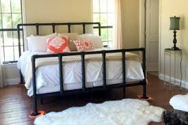 iron pipe furniture. 47 DIY Bed Frame Ideas Built With Pipe Iron Furniture