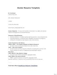 Doctor Resume Sample Format Template Word Cv Examples – Mobstr