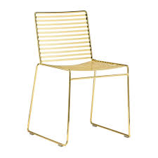 life interiors  studio wire dining chair (gold)  modern dining