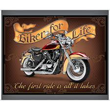 Biker For Life 36 Fabric Panel / Motorcycle Quilt Fabric & Description. Biker For Life 36