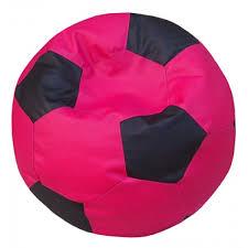 pink black football bean bag