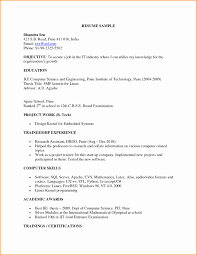 Bsc Resume Sample Bsc Computer Science Fresher Resume Sample Format For Freshers Free 18