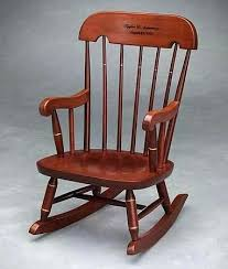 Wooden Kids Rocking Chair Kid Rocking Chair Rocker With Cherry