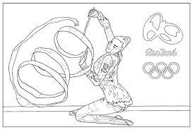 Barbie Gymnastics Coloring Pages Gymnastic Page Printable Hard