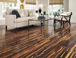 Living room with Ultra-Strand bamboo flooring
