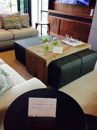 ottoman coffee table with sliding wood
