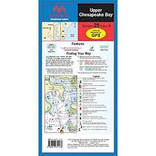 Upper Chesapeake Bay Chart Upper Chesapeake Bay Waterproof Chart By Maptech Wpc025