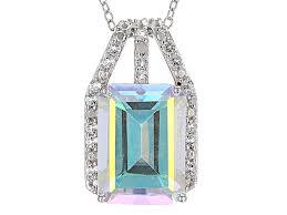 mercury mist mystic topaz rhodium over silver pendant with chain 8 46ctw fgh402 jtv com
