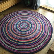colourful round habitat rug