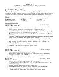 Library Resume Sample Childrens Librarian Resume Sample Resume