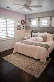 Home Decor Furniture Bedroom Decoration Glorious Gray Wing Tufted Headboard  And Pink Covering Bed Queen Size With Sweet White Horizontal Blind In Girls  Gray ...