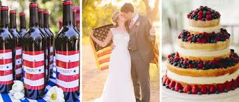 Last-minute ideas for an Independence Day wedding