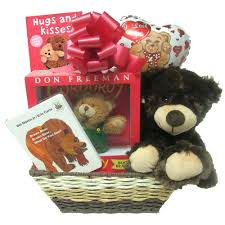 bear gift basket for new baby loading zoom