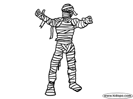 Small Picture Scary Mummy Coloring Page Bebo Pandco
