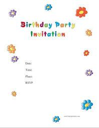 40 Free Birthday Party Invitation Templates Template Lab