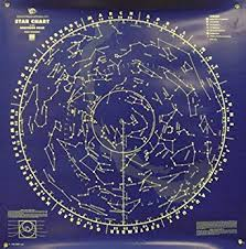 Southern Sky Star Chart American Educational Blue North And South Sky Star Wall