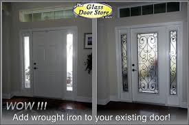 iron front doors. Wrought-iron-added-to-the-front-door-inside- Iron Front Doors