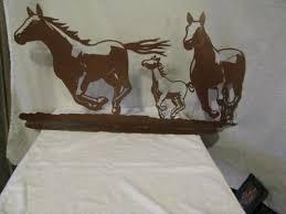 running horse in the wind metal horse silhouette wall western art on horse silhouette wall art with running horse in the wind metal horse by cabinhollow on zibbet
