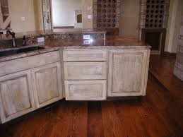 Old Looking Kitchen Cabinets How To Distress White Kitchen Cabinets