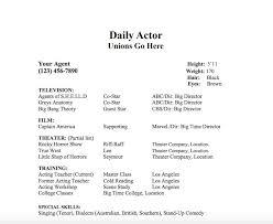 Actors Resume Simple 28 Acting Resume Templates Samples