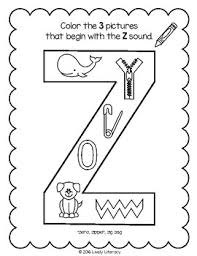 These worksheets aim to build a child's knowledge of consonants, vowels and their corresponding sounds. Lively Literacy Letter Sound Of The Week Phonics Worksheets Z Zee