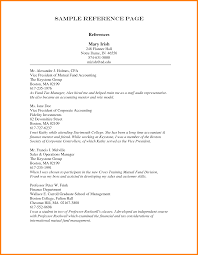 Creative Sample Of Resume References About Reference List Format