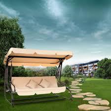 dual use furniture. IKayaa Modern Outdoor Patio Garden Swing Chair With Canopy Dual Use Furniture A