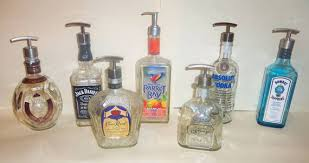 Decorative Lotion Pump Bottles Upcycled Whiskey Tequila Beer Bottle Decorative Soap Pump 2