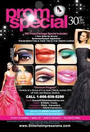 make up artist promotional flyer design