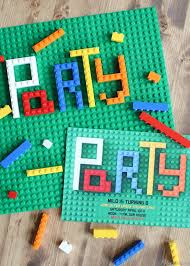 Make Birthday Party Invitations How To Make Lego Party Invitations Bren Did