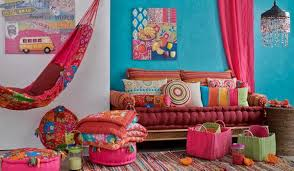 bright blue and pink color combination for festive spring and